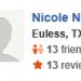 Nicole N,<span>Euless, Texas, 3/12/2015</span>