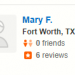 Mary F,<span>Fort Worth ,12/17/2017</span>